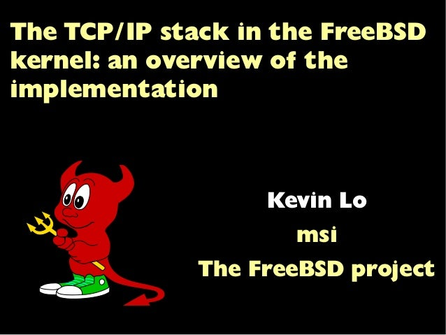 The TCP/IP stack in the FreeBSD kernel: an overview of the implementation -------------------- svg version by killasmurf86...