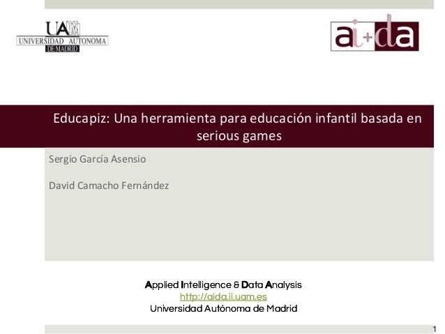 Applied Intelligence & Data Analysis http://aida.ii.uam.es Universidad Autónoma de Madrid Applied Intelligence & Data Anal...