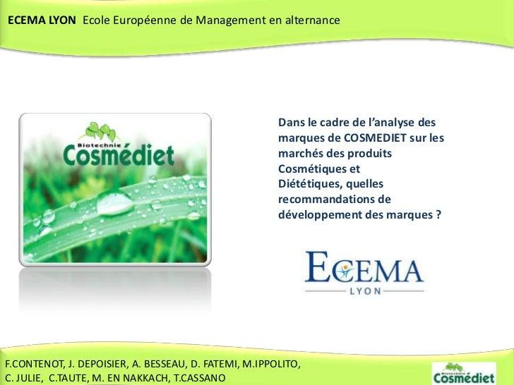 ECEMA LYON Ecole Européenne de Management en alternance                                                       Dans le cadr...