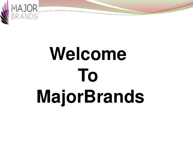 Welcome To MajorBrands