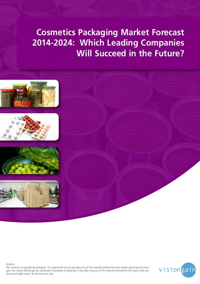 Cosmetics Packaging Market 2014-2024