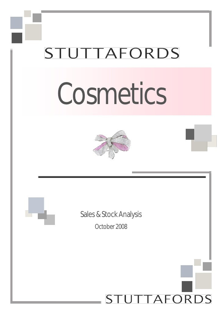 Cosmetics    Sales & Stock Analysis       October 2008