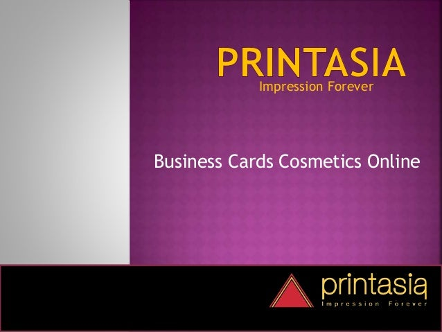 Impression Forever Business Cards Cosmetics Online