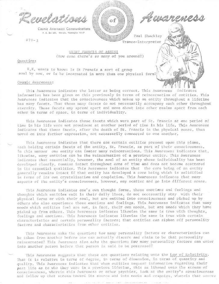 Cosmic Awareness Communication s                      P. O . 3ro, 115, Olyr,•Dia, Washington , t 1 7                      ...