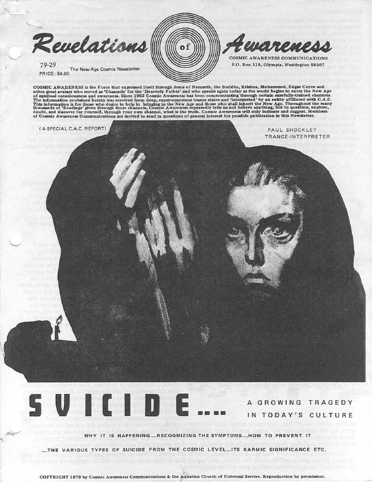 Cosmic Awareness 1979-29: Suicide