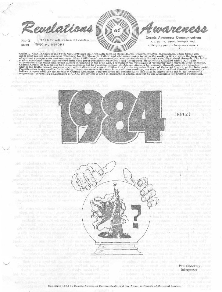"""Cosmic Awareness 1984-02: """"Gold and Silver: What About Them? Up, Down, Possible Confiscation?"""""""