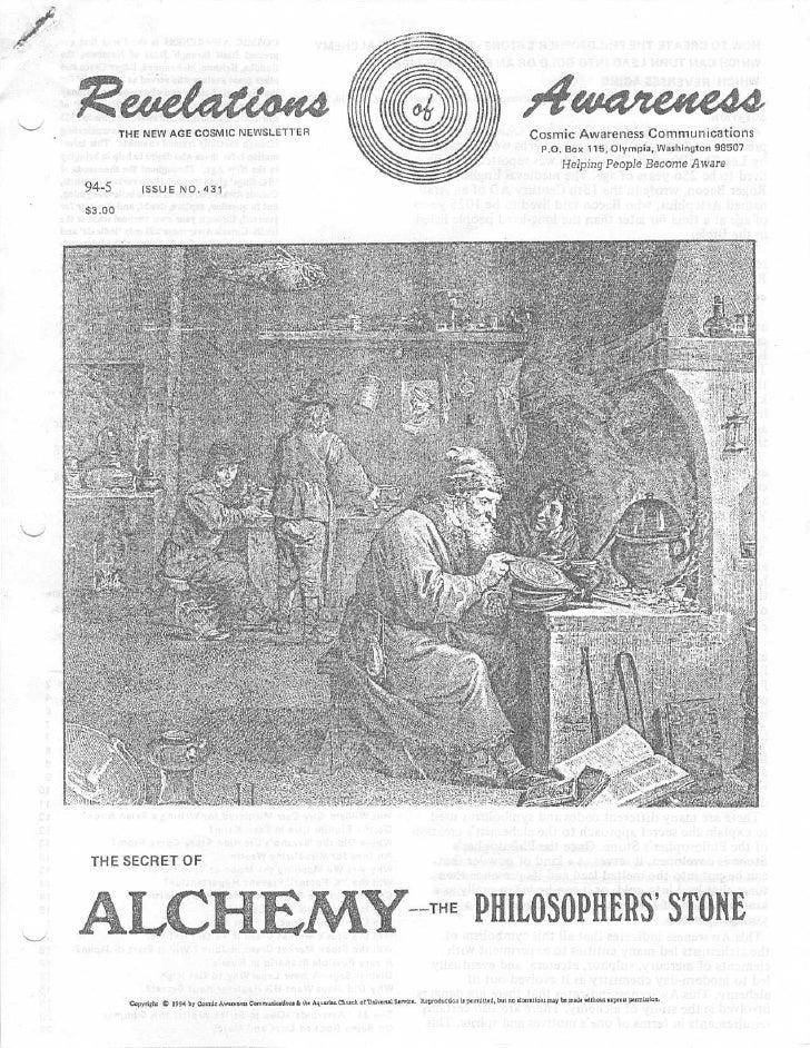Cosmic Awareness 1994-05: The Secrets of Alchemy - The Philosopher's Stone