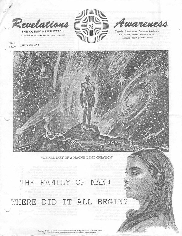 Cosmic Awareness 1994-11: The Family Of Man: Where Did It All Begin?