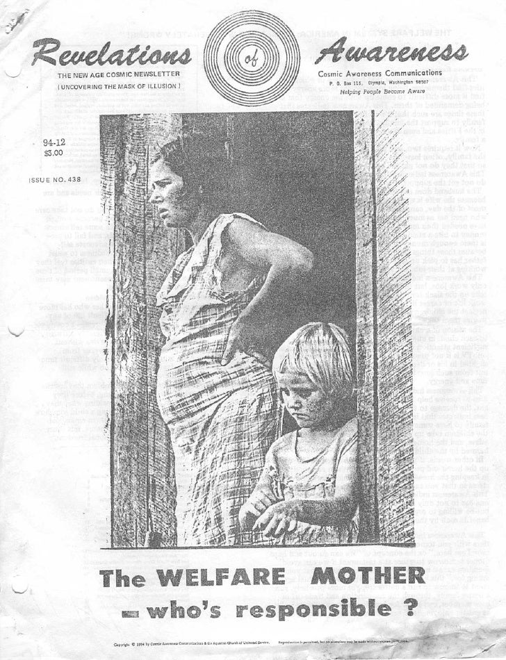 Cosmic Awareness 1994-12: The Welfare Mother: Who Is Responsible?