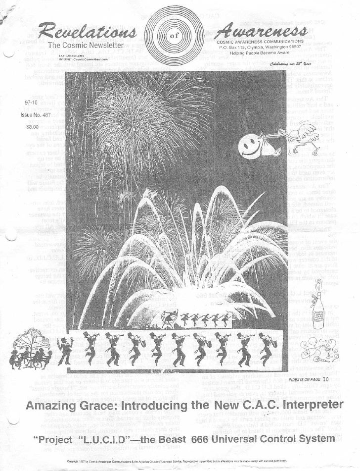 Cosmic Awareness 1997-10: How Corporations Act as Police 2