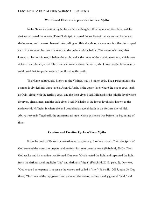 Comparison essay creation myths