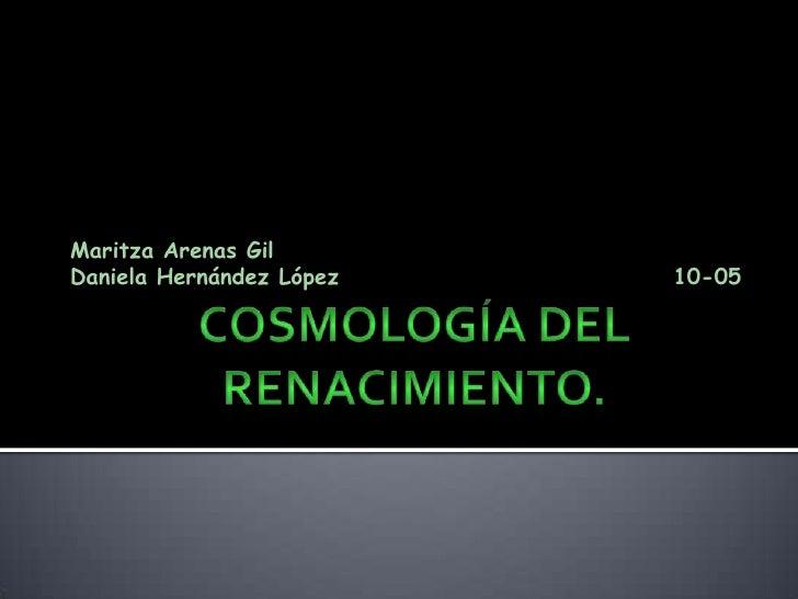 Cosmología del renacimiento