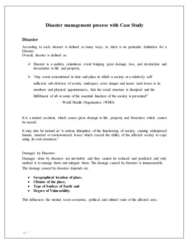 contingency planning essay The first step when developing an emergency response plan is to conduct a risk  assessment to identify potential emergency scenarios an understanding of.