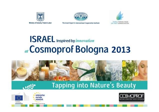 ישראל בתערוכת Cosmoprof 2013