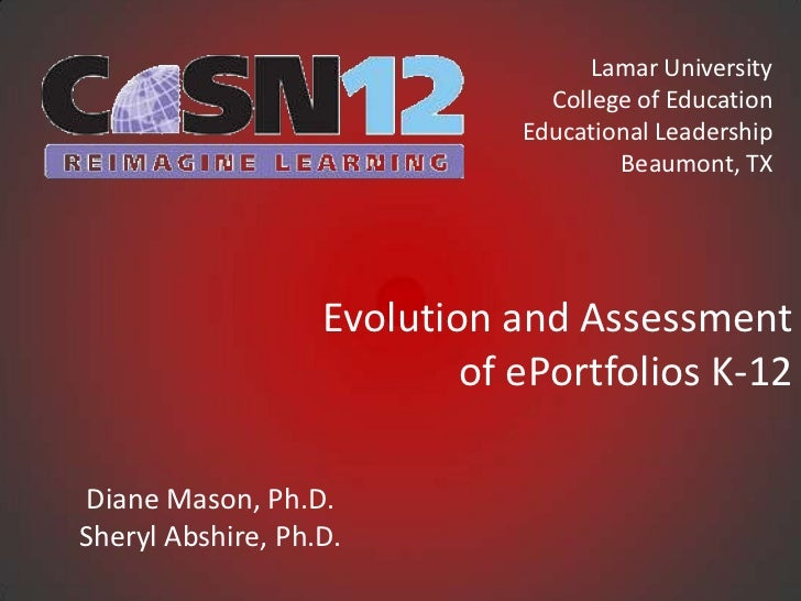 Co sn evolution&assessment_eportfolios_k-12_3-3-12