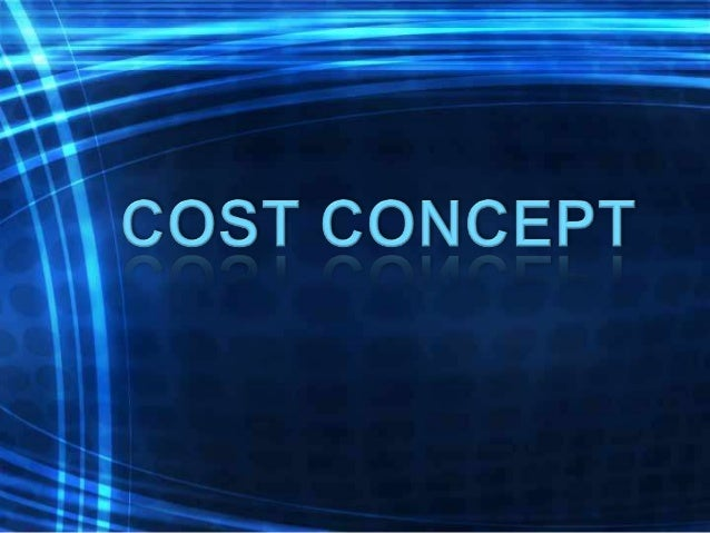 Different Cost Concepts (An Overview)