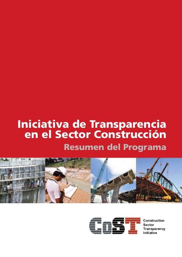 Iniciativa de Transparencia en el Sector Construcción: Resumen del Programa