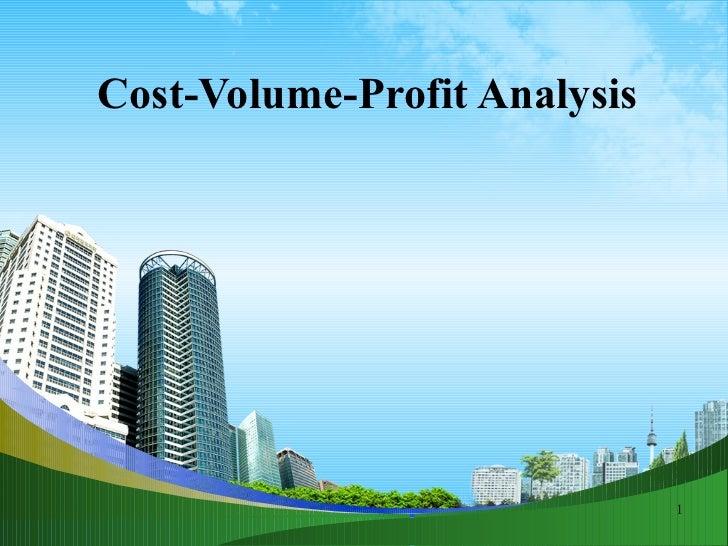Cost volume-profit analysis