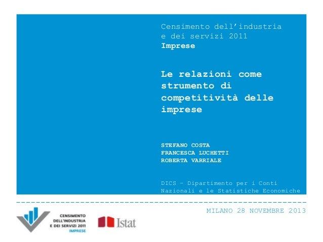 S. Costa, F. Lucchetti, R Varriale - Le relazioni come strumento di competitività delle imprese