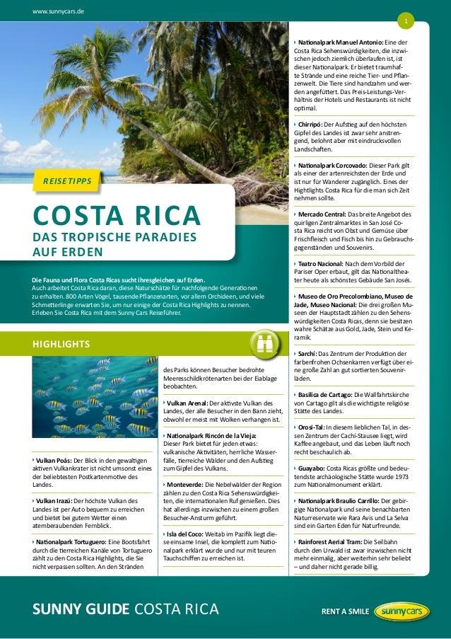 www.sunnycars.de 1   ationalpark Manuel Antonio: Eine der  N Costa Rica Sehenswürdigkeiten, die inzwischen jedoch ziemli...