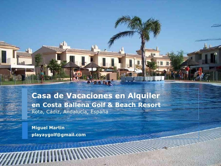 Costa ballena golf reach resort casa alquiler vacaciones - Casa vacaciones cadiz ...
