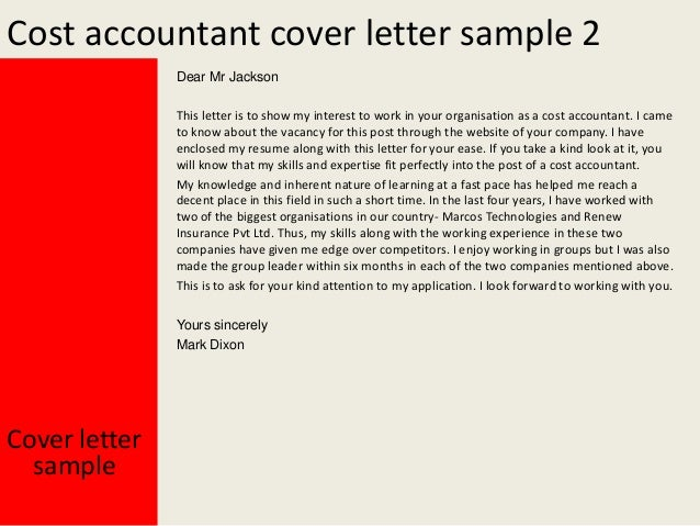 cost accounting manager cover letter Find how to write an accounting resume with our accounting resumes guide or a resume cv templates cover letter resume samples » accounting.