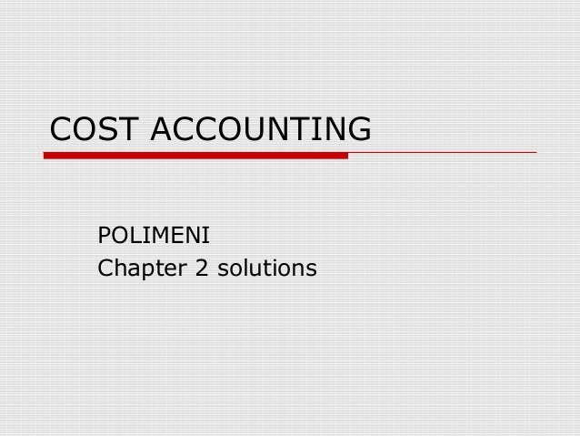 Cost Accounting - Acct 3334 Chapter 9 Solutions
