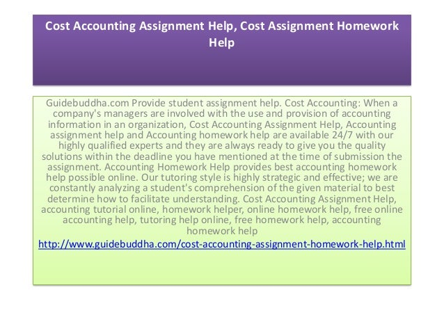 Managerial accounting assignment help top 10 dissertation writers in ...