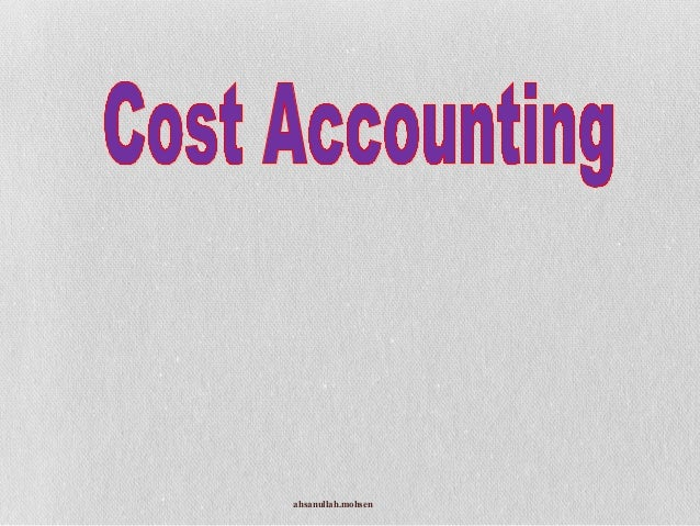 Cost accounting bba 3rd
