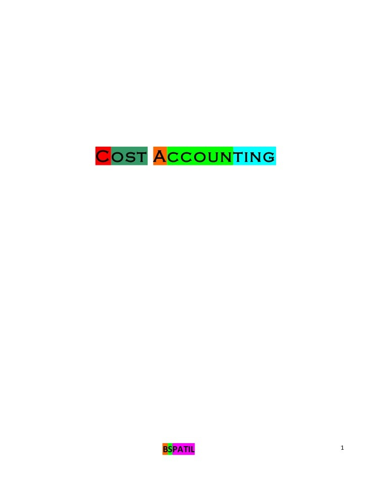 Cost accounting book of 3 rd sem mba @ bec doms