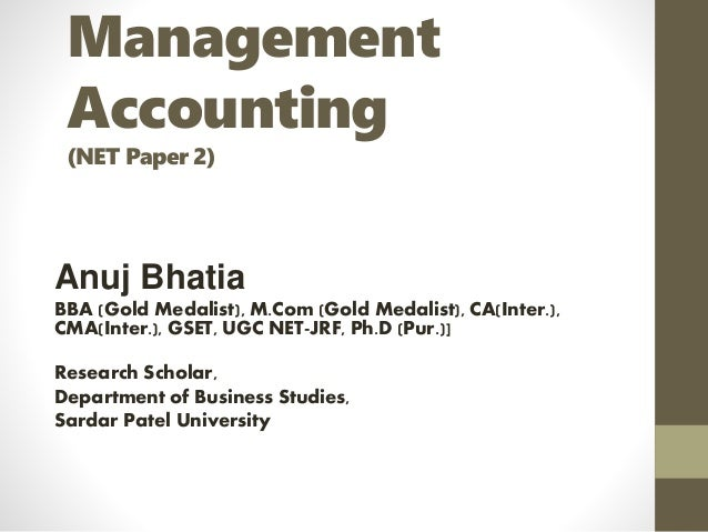 Managerial accounting research paper