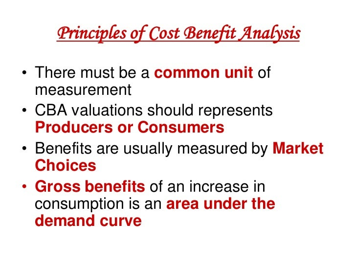 cost benefit analysis 3 essay