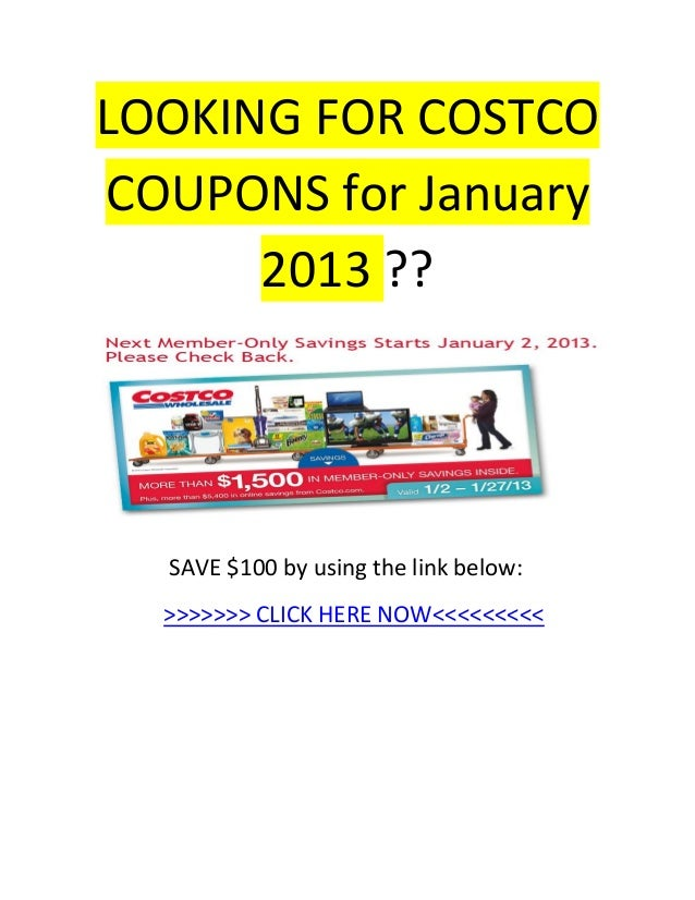 Costco coupon  january 2013