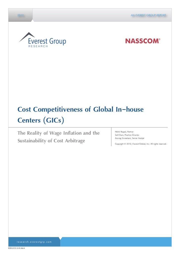 Cost Competitiveness of Global In-house Centers (GICs)