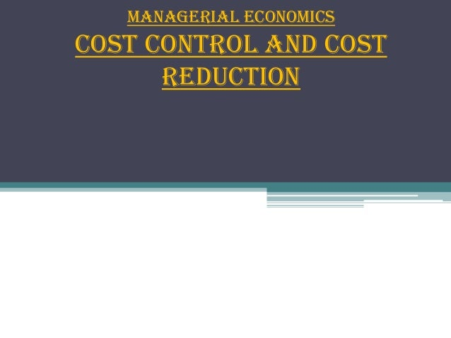 Cost Reductions in an office?