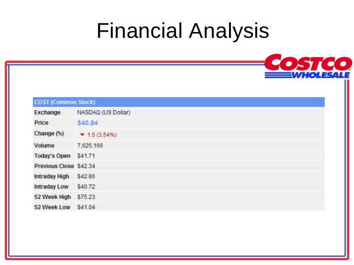 costco financial analysis In-depth view of key statistics and finances for costco wholesale corp (cost) on  msn money  financial health trading statistics management effectiveness.