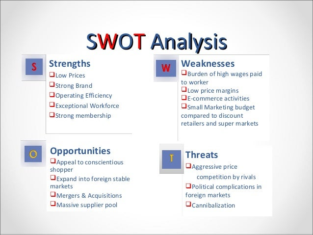 swot for costco Costco wholesale uk limited - company profile & swot analysis, is a source of comprehensive company data and information the report covers the company's structure, operation, swot analysis, product and service offerings and corporate actions, providing a 360˚ view of the company.