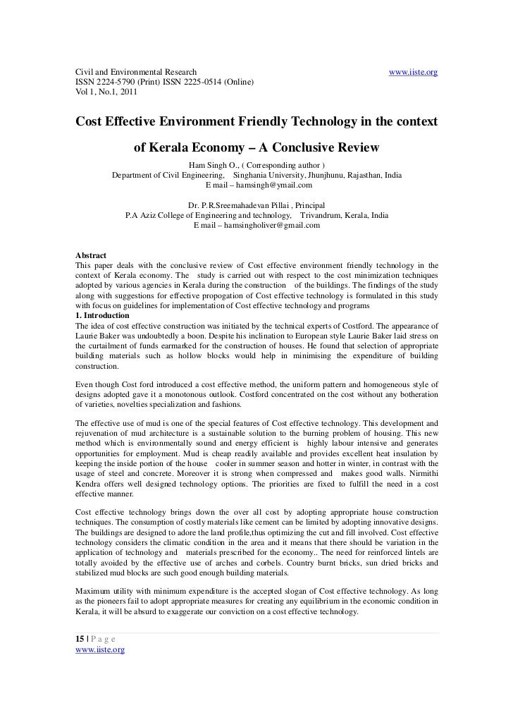 Civil and Environmental Research                                                              www.iiste.orgISSN 2224-5790 ...