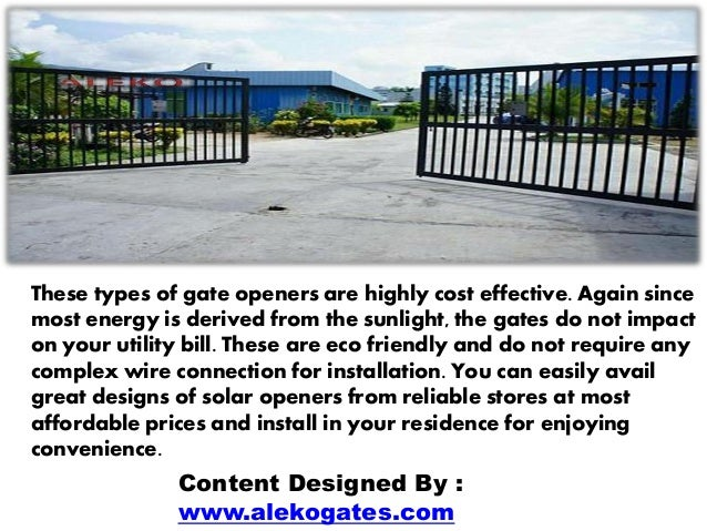 cost effective solar powered gate openers for residential driveway ga. Black Bedroom Furniture Sets. Home Design Ideas