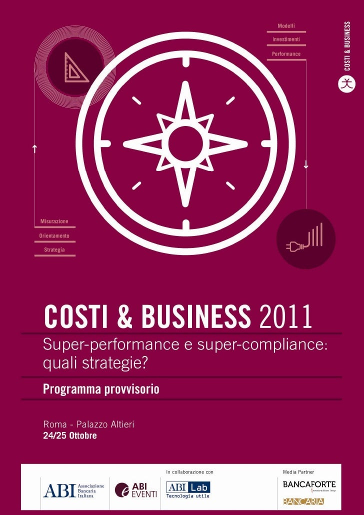 Costi & Business 2011 - Programma dei lavori