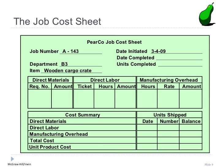 job order costing Companies that use job costing work on many different jobs with different  production requirements during each period companies that use process  costing.