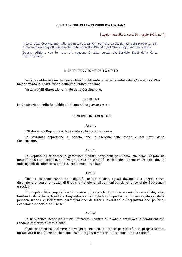 Costituzione repubblicaitaliana