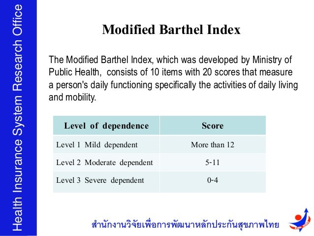 Modified Barthel Index Scoring Form Modified Barthel Index The