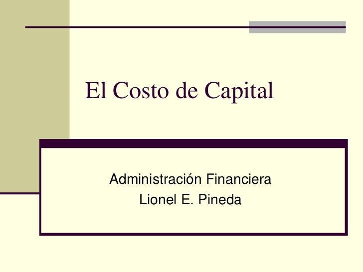 Marriott Costo De Capital