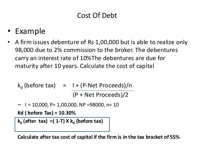 Cost of Debt Calculator