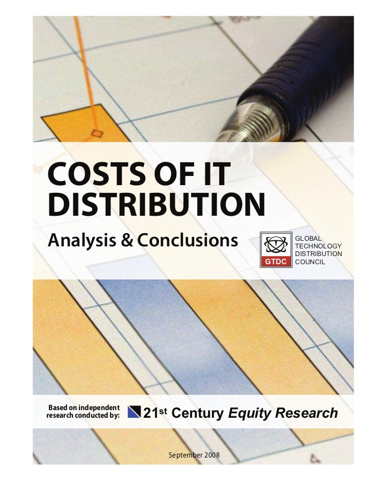 COSTS OF ITDISTRIBUTIONAnalysis & Conclusions                               GLOBAL                                        ...