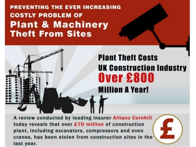 Cost of plant theft to the Construction Industry – An Infographic