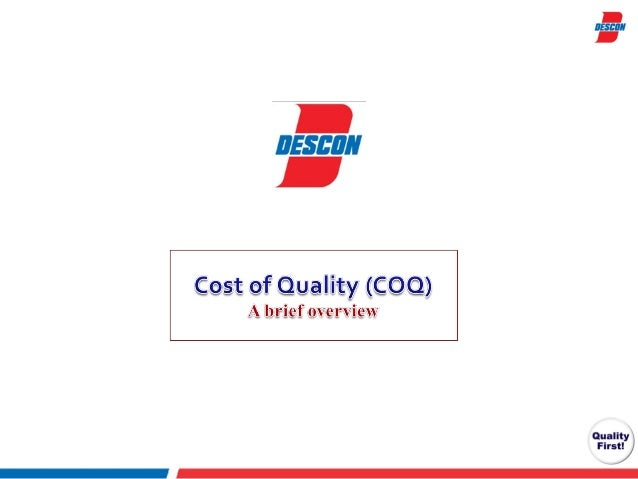 Cost of quality   concept and advantages