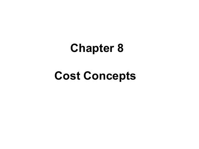 Cost oncept