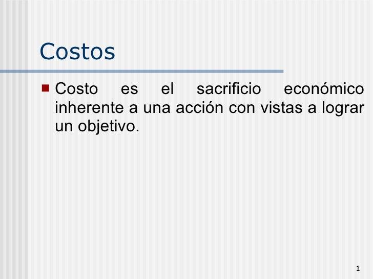 Costos Nuevo
